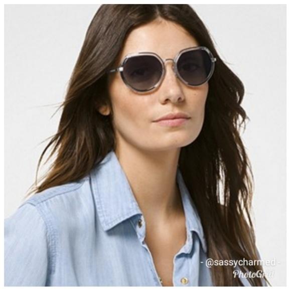 Michael Kors Ibiza Clear Silver Round Sunglasses